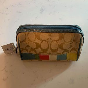 COACH Multicolor Signature Makeup Bag (NWT)